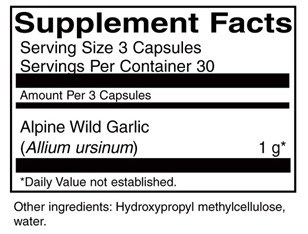 Supplement details for AIM Bear Paw Garlic