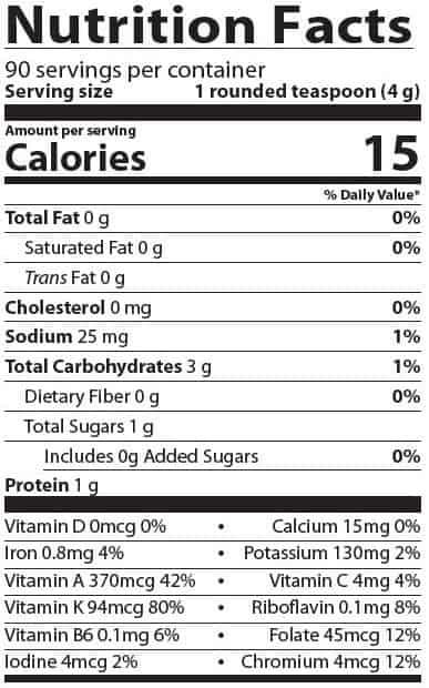 Supplement details for AIM BarleyLife