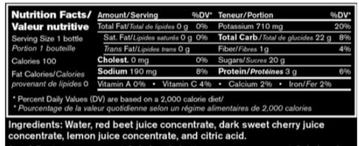 Supplement details for AIM Red Rush