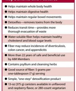The benefits of AIM Herbal Fiberblend Raspberry