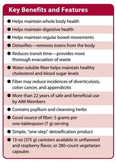The benefits of AIM Herbal Fiberblend Raspberry (6 Pack)