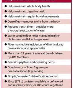 The benefits of AIM Herbal Fiberblend